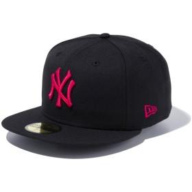 【メーカー取次】 NEW ERA ニューエラ 59FIFTY MLB NY ブラックXストロベリー 11308565 キャップ(ブラックXストロベリー 表記7 3/8)