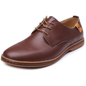 [HTAO] 紳士靴 メンズ ビジネスシューズ 立ち仕事 ウォーキング 秋冬 おしゃれ ブラウン