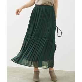ROPE' PICNIC リーフプリントプリーツスカート