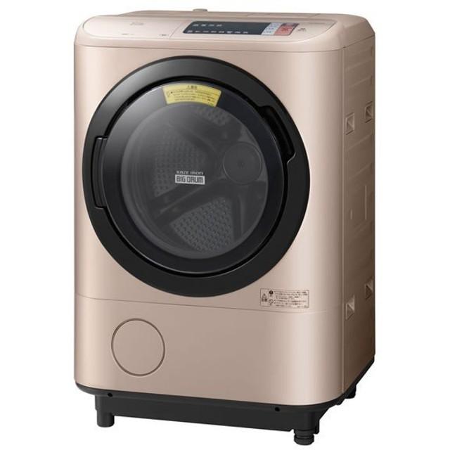 日立 ドラム式 洗濯乾燥機 洗濯12kg 乾燥6kg BD-NX120AL-N 左開き