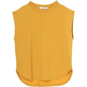 COEL COEL/コエル バックプリントノースリーブTシャツ Tシャツ・カットソー,イエロー