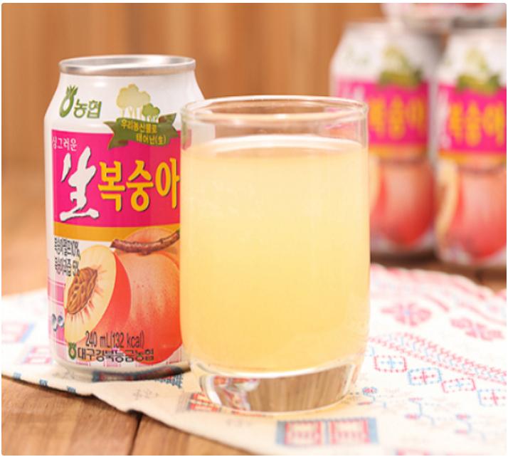 韓國超人氣果汁(水梨汁/葡萄汁/水蜜桃汁/麥芽甜湯)