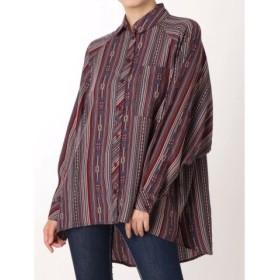 (GYDA/ジェイダ)irregular stripe pattern BIG S/レディース ブルー 送料無料