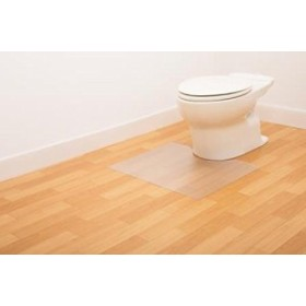 日本製 お掃除簡単 拭ける トイレマット 半透明タイプ(レギュラーサイズ 幅60×奥行55cm)