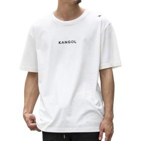 (エーエスエム) A.S.M メンズ Tシャツ WEB限定 A.S.M × KANGOL コラボ 限定 オリジナル 別注 KANGOL ロゴ 刺繍 プリント クルーネック 半袖 Tシャツ 02-66-9810 50(L) ホワイト