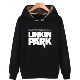 LittleKK パーカー メンズ 大きいサイズ 長袖 トレーナー 裏起毛スウェット プルオーバー暖かい秋冬 LM914 (XXL, ブラック)