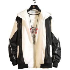 Alppv メンズ コート ジャケット アウター トップス ブルゾン 長袖 スリム 着痩せ ショートコート 通勤 通学 薄手 秋ブラックAL-2
