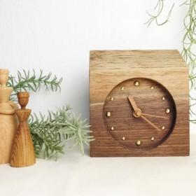 【木の時計】ウォルナットMIMI/一点もの WN-m