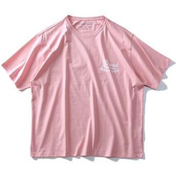 DANIEL DODD 半袖 Tシャツ オーガニック プリント 半袖Tシャツ I AM PROUD azt-190224 大きいサイズ メンズ【500.ピンク系-4L】