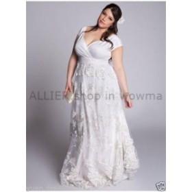 ウェディングドレス/ステージ衣装 2018ホワイト/アイボリーウェディングドレスブライダルドレスカスタムプラスサイズ