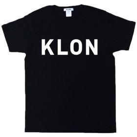クローン KLON Tshirts LARGE LOGO BLACK レディース ブラック メンズMサイズ 【KLON】