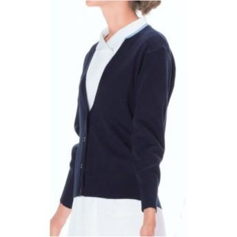 (ナガイレーベン) NAGAILEBEN 女子 カーディガン ナースウェア メディカルウェア 上衣 白衣 JT-2350 Lサイズ ネイビー