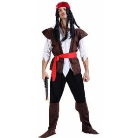 レディース メンズ ハロウィン コスチューム 海賊 キャプテン パイレーツ フリーサイズ 本格派 リアルデザイン 公演 演劇 お