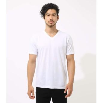[アズールバイマウジー] Tシャツ スター ジャガード Vネック 半袖T メンズ ホワイト M