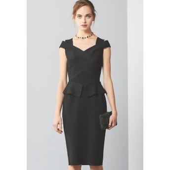 EPOCA ブレードドレス ワンピース,黒