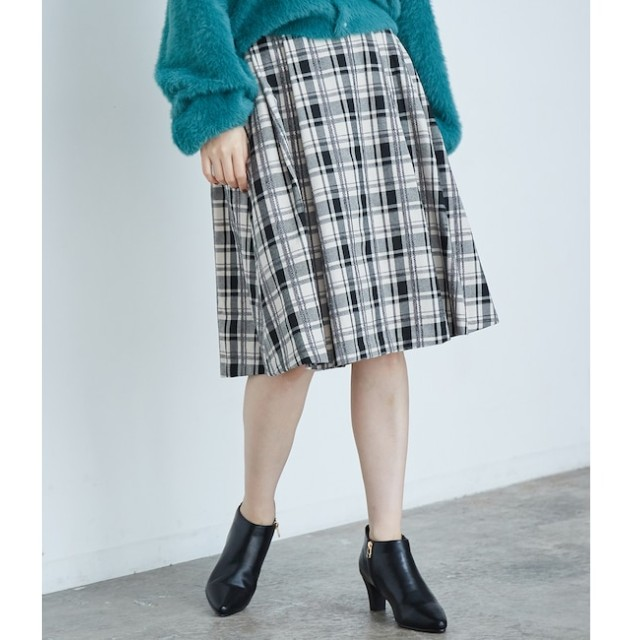 【ロペピクニック/ROPE' PICNIC】 【着丈が選べるスカート・ミドル丈】モールチェックタックスカート