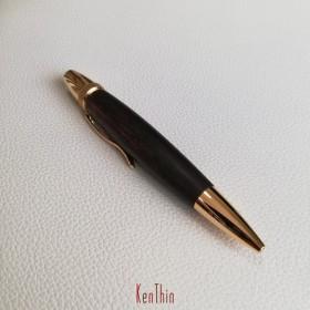 パトリオット銘木ボールペン ブラジリアンローズウッド ツイスト式 ··・送料無料・··