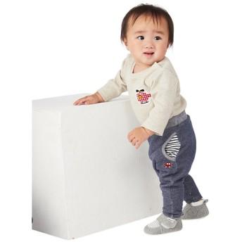 ベビー シンプルフリー パンツ 10分丈 ネイビー ベビー・キッズウェア ベビー(70~95cm) ボトムス(男児) (201)