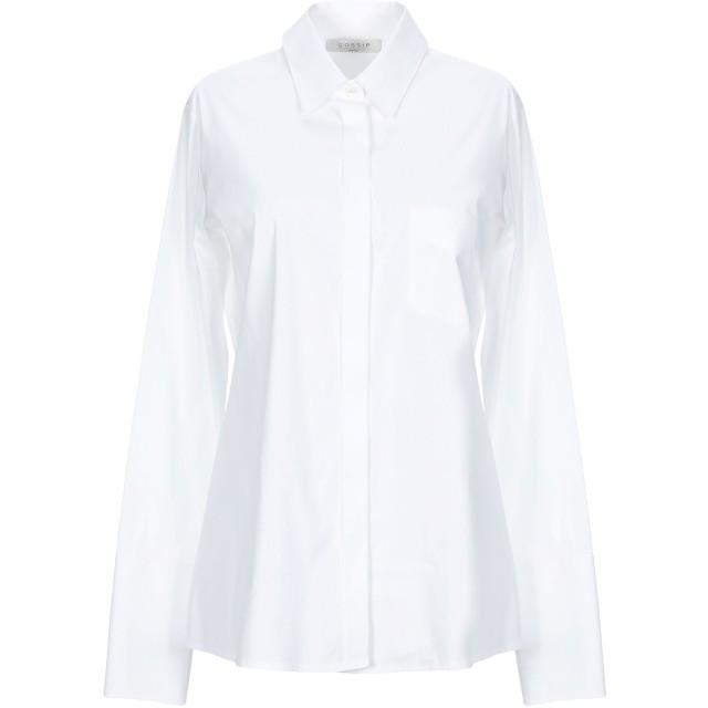 《期間限定セール開催中!》GOSSIP レディース シャツ ホワイト 44 コットン 78% / ナイロン 18% / ポリウレタン 4%