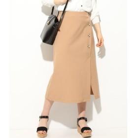 【ビス/ViS】 【EASY CARE】フロントボタンアシンメトリースカート