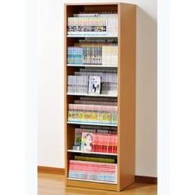 オークス ひな段収納コミックラック ナチュラル 収納枚数:最大648冊。DVDも収納可能。 HCS590N 【返品種別A】