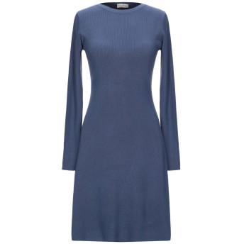 《セール開催中》CASHMERE COMPANY レディース ミニワンピース&ドレス ブルーグレー 42 ウール 50% / カシミヤ 30% / ナイロン 15% / ポリウレタン 5%