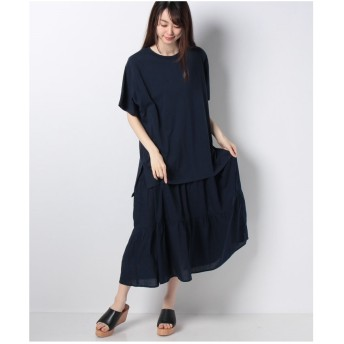 Samansa Mos2 [セットアイテム]Tシャツ+ワンピース(ネイビー)【返品不可商品】