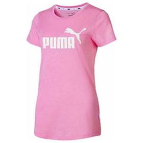プーマ レディース ESS+NO.1 ロゴ ヘザー SS Tシャツ(ライラック サシェヘザー・サイズ:M) PUMA PAJ-853869-21-M 【返品種別A】