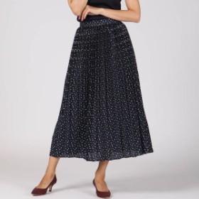ビアッジョブルー(Viaggio blu)/ヨットプリントプリーツスカート