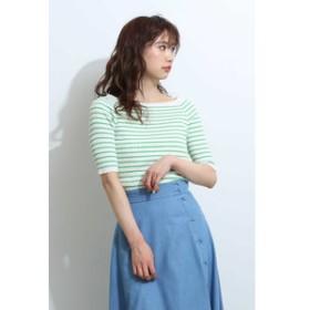 【PROPORTION BODY DRESSING:トップス】リブボーダーニット