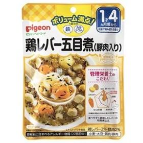 ピジョンベビーフード 1食分の鉄Ca 鶏レバー五目煮(豚肉入り) (120g)