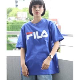 フィラ FILA ユニセックスロゴ刺繍Tシャツ (ブルー【12】)