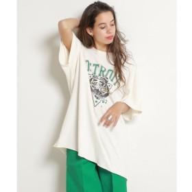 【ダブルネーム/DOUBLE NAME】 USED風トラプリントTシャツ