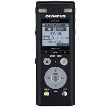 オリンパス リニアPCM対応ICレコーダー4GBメモリ内蔵(ブラック) OLMPUS Voice-Trek DM-750-BLK 【返品種別A】