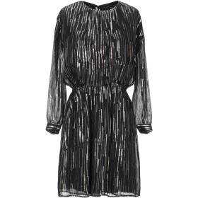 《期間限定セール開催中!》TARA JARMON レディース ミニワンピース&ドレス ブラック 42 シルク 85% / 金属繊維 15%