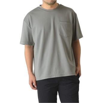(ラフルーレ) RAFFRULE M15 半袖 ビッグシルエット tシャツ メンズ 吸汗 速乾 ドライ ストレッチ 無地 カットソー RH4-0943 3L F-グレー
