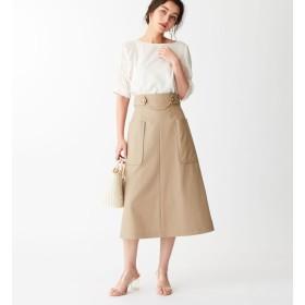 【エメルリファインズ/EMMEL REFINES】 SMF コットンツイル フロントチェーンスカート