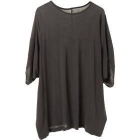 smoothday 80/- コズモラマハイゲージ天竺 UnisexオーバーT Tシャツ・カットソー,チャコールグレー