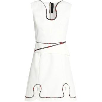《セール開催中》ROLAND MOURET レディース ミニワンピース&ドレス ホワイト 12 レーヨン 63% / アセテート 34% / ポリウレタン 3% / ナイロン / ポリエステル