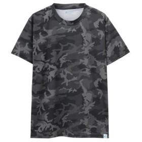 (MAC HOUSE/マックハウス)SARARI UPF50+カモフラTシャツ 24433453/メンズ ブラック