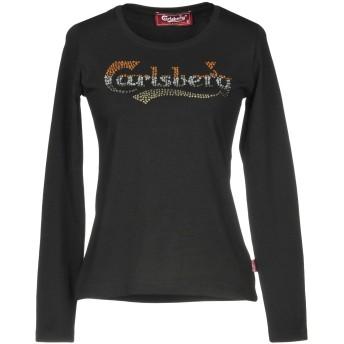 《9/20まで! 限定セール開催中》CARLSBERG レディース T シャツ ブラック XS コットン 92% / ポリウレタン 8%
