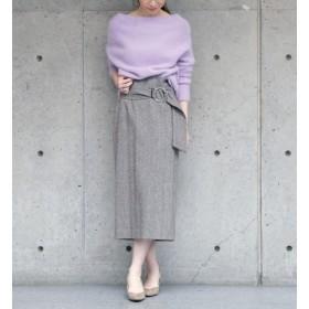 【リエス/Liesse】 トップヘリンボーンベルト付きスカート
