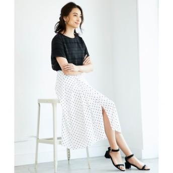【ジユウク/自由区】 【洗える】DRAPE DOT スカート