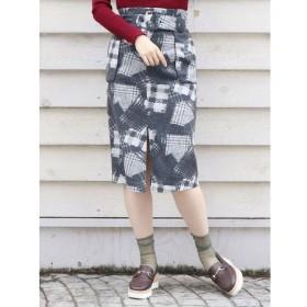 【ダズリン/dazzlin】 バリエーションチェックナロースカート