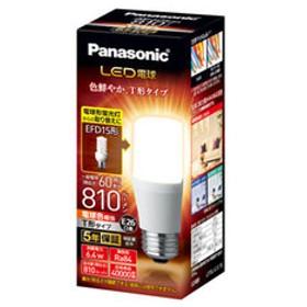 パナソニック LED電球 T形 810lm(電球色相当) Panasonic LDT6LGST6 【返品種別A】