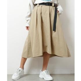 【ダブルネーム/DOUBLE NAME】 製品染めベルト付イレヘムスカート