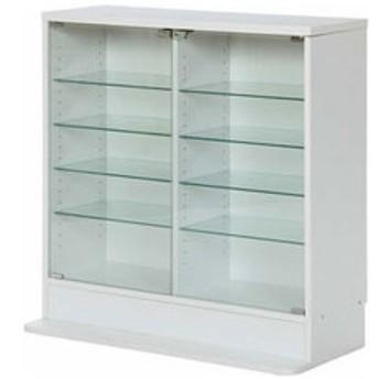 dポイントが貯まる・使える通販  不二貿易 ガラスコレクションケース ロータイプ 浅型(ホワイト) 96072 【返品種別A】 【dショッピング】 チェスト・衣装収納 おすすめ価格