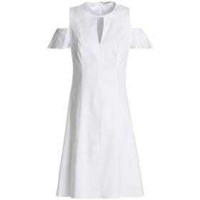 《セール開催中》ELIE TAHARI レディース ミニワンピース&ドレス ホワイト 2 麻 70% / レーヨン 27% / ポリウレタン 3%