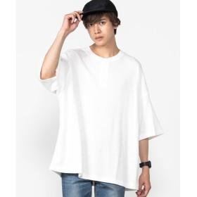 [マルイ]【セール】ヘンリーネックサーマルビッグTシャツ/ウィゴー(メンズ)(WEGO)
