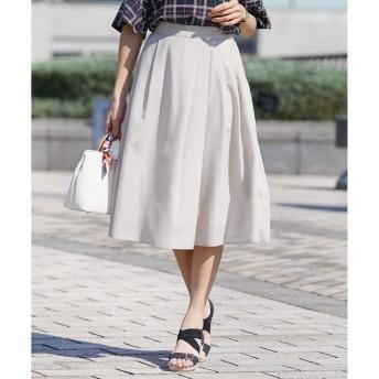 【エニィスィス/any SiS】 【洗える】イレギュラータックフレア スカート